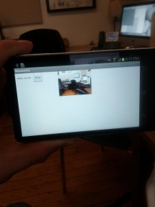 Running the live streaming app on a Galaxy Camera